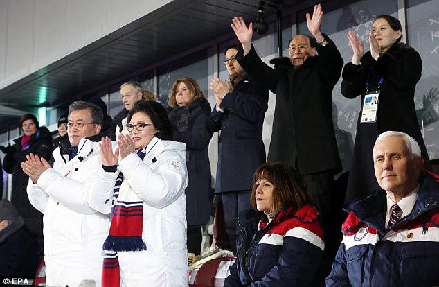 pence seating hypocrisy north korea