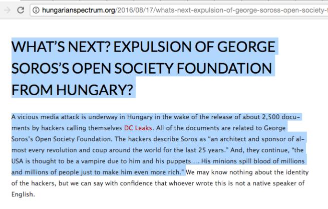Soros Hungary expel