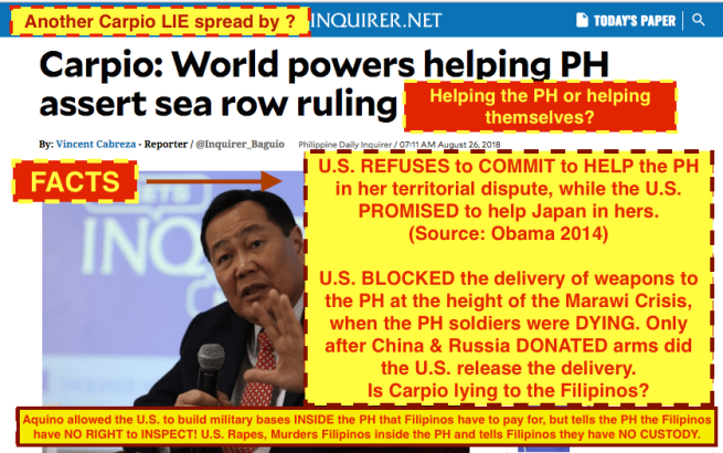 Carpio lies again world power help1