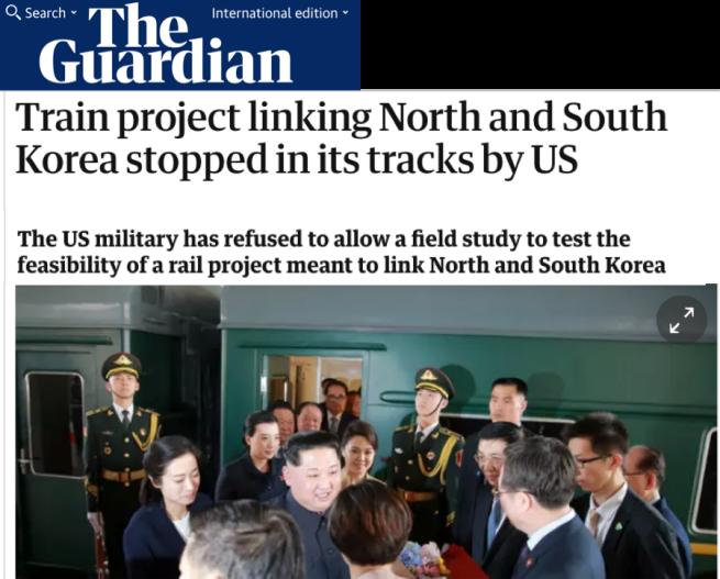 US stop train Skorea Nkorea